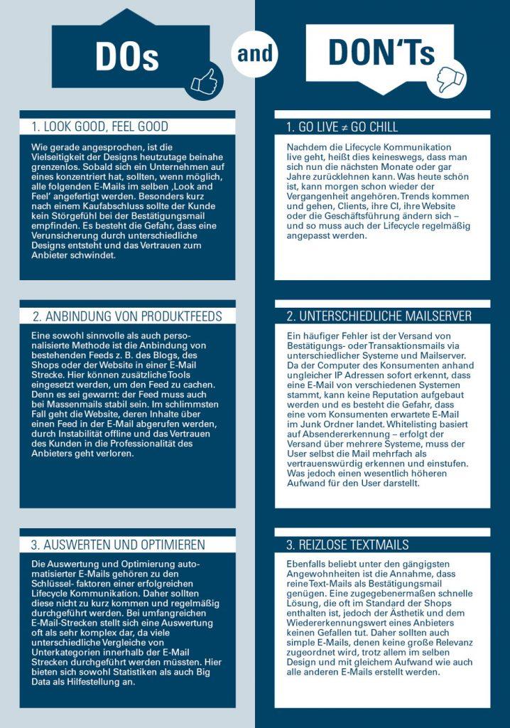 Infografik TIPPS UND TRICKS BEI AUTOMATISIERTEN E-MAILS