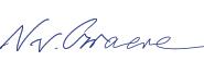 Signatur Nikolaus von Graeve